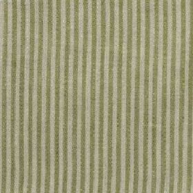 Narrow Stripe Linen - Fern Green And Natural - Linen fabric with a vertical stripe pattern in green and light grey