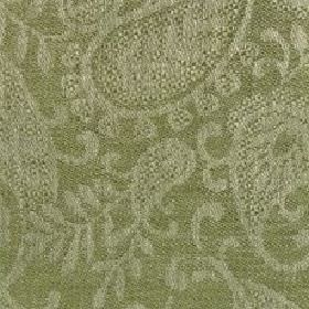 Small Paisley Linen - Fern Green And Natural - Very subtly patterned linen fabric woven in two very similar shades of forest green