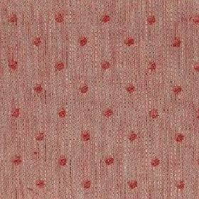 Spot Linen - Crimson And Natural Reverse - Fabric woven with dusky red, light grey and cream coloured linen threads, which has a pattern of
