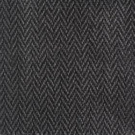 Upholstery Linen Herringbone - Charcoal - Dark grey and charcoal coloured linen fabric with a zigzag herringbone design