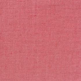 Plain Weave Linen - Coral - Strawberry pink coloured fabric made entirely from unpatterned linen