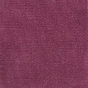 Upholstery Heavy Linen Plain Weave - Volga Red - Rich grape coloured fabric made with a 100% linen content