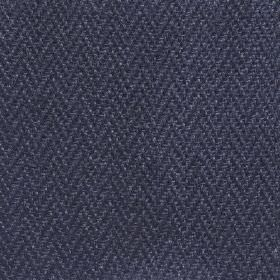 Upholstery Linen Herringbone - Ink - Dark navy blue coloured 100% linen fabric, made with a small, very subtle herringbone pattern