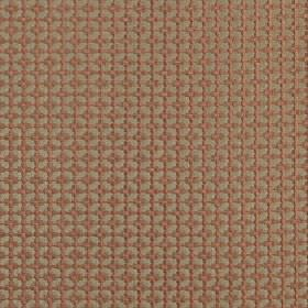 Tramonti - Ginger - A small blush pink grid and geometric square design covering a pewter coloured 100% polyester fabric background