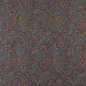 Campinola - Orchard - Elegant colours including dark pink, dusky blue and pastel green making up pretty paisley designs on 100% polyester fabr