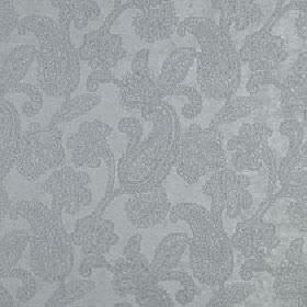 Positano - Seaspray - Two similar shades of light blue-grey making up a subtle, delicate paisley design on polyester, acrylic and viscose fabr