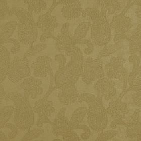 Positano - Honey - Paisley patterns creating an elegant, subtle design on light brown coloured polyester, acrylic and viscose blend fabric
