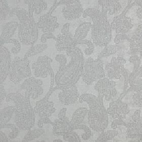 Positano - Dove - Pretty, delicate paisley patterns covering polyester, acrylic and viscose blend fabric made in 2 similar light grey shades