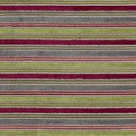 Ravello - Orchard - Cherry, pale green, iron grey and light pink coloured polyester, acrylic & viscose fabric, featuring horizontal stripes