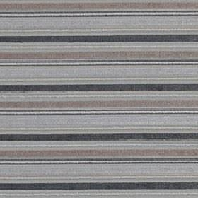 Ravello - Pebble - Several different shades of grey making up a horizontal stripe design on polyester, acrylic and viscose blend fabric
