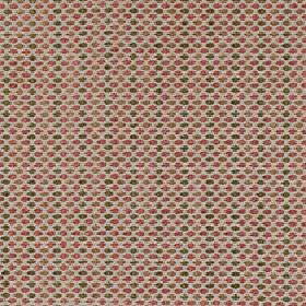 Sorrento - Spice - Small charcoal and dusky pink coloured dots arranged in rows on light grey polyester, acrylic and viscose blend fabric