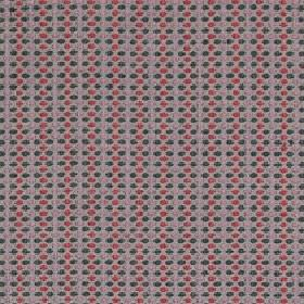 Sorrento - Berry - Fabric made from polyester, acrylic and viscose, covered with rows of tiny charcoal, light grey, raspberry and lilac dots