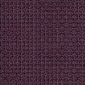 Tramonti - Dusk - Two dark shades of purple making up a small geometric grid and square design on fabric made from 100% polyester