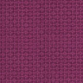 Tramonti - Fuchsia - Purple 100% polyester fabric behind a rich fucshia coloured geometric design of a small grid and squares