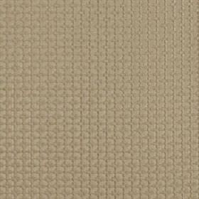Tramonti - Honey - Squares and a grid making up a small, subtle geometric design on grey-beige coloured 100% polyester fabric