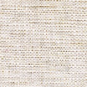 Aros - Ivory - White polyester and cotton blend fabric featuring a few threads in a slightly darker shade of beige