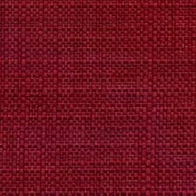 Aros - Poppy Red - Burgundy coloured polyester and cotton blend fabric woven with a very subtle purple tinge