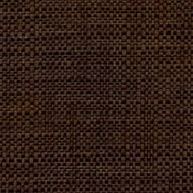 Aros - Chestnut - Threads made from polyester and cotton in black and chocolate brown woven into an otherwise unpatterned fabric