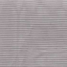 Astra - Aluminium - Soft grey wavy lines running randomly over a black and white striped 100% FR polyester fabric in a horizontal design