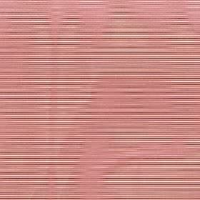 Astra - Red Ochre - Salmon pink coloured wavy lines printed on horizontally striped 100% FR polyester fabric in cream and dark red colours
