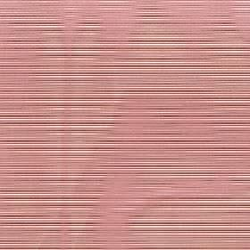 Astra - Topaz - Horizontal stripes printed in cream & dark red on 100% FR polyester fabric behind a hazy wavy line design in dusky pink