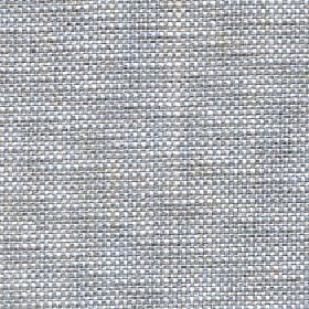 Oberon - Ocean - Fabric woven from cotton, viscose, linen and polyester blend threads in white and light shades of blue and grey