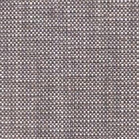 Oberon - Walnut - Woven cotton, viscose, linen and polyester blend fabric, made using dark grey and white coloured threads