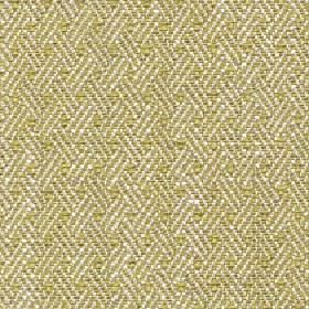 Quince - Palm - Rows of short diagonal lines arranged in threes on fabric made from cotton, viscose and linen in lime green and white