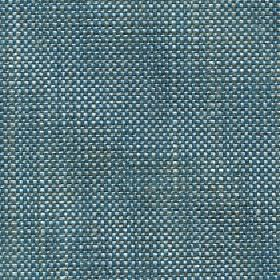 Oberon - Teal - Marine blue, white and blue-grey coloured threads woven together into a cotton, viscose, linen & polyester blend fabric