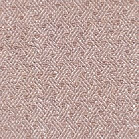 Quince - Timber - Fabric made from cotton, viscose and linen in white and dusky pink, with a repeated design of short diagonal lines