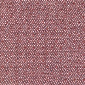 Quince - Tigerlilly - White diagonal lines arranged in rows in a simple pattern on a light red cotton, viscose and linen blend fabric backgrou