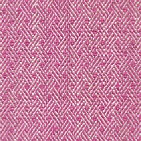 Quince - Hot Pink - Fabric made in bright pink & white with a pattern of trios of diagonal lines on fabric made from cotton, viscose & linen
