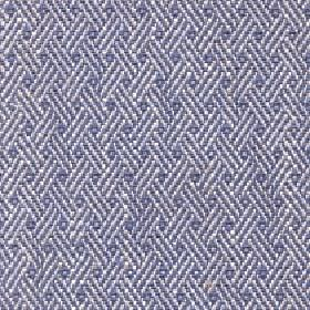 Quince - Moonlight Blue - Fabric made from denim blue and white coloured, diagonal line patterned cotton, viscose and linen, with a simple d