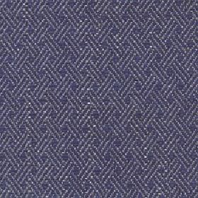 Quince - Denim - Pale grey diagonal lines arranged in threes over a navy blue coloured cototn, viscose and linen blend fabric background