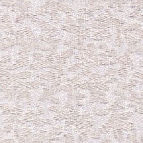 Lysander - Ivory - Simple stylised leaves patterning cotton, viscose and linen blend fabric in two similar very pale shades of grey & beige