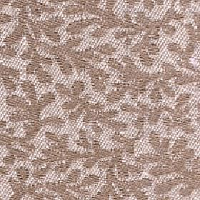 Lysander - Timber - Light brown coloured simple stylised leaves on pale beige-grey coloured cotton, viscose and linen blend fabric