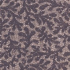 Lysander - Dark Earth - A dark grey design of stylised leaves creating a large pattern on cotton, viscose and linen blend fabric in light br