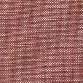 Oberon - Tigerlilly - Cotton, viscose, linen and polyester blend fabric woven from threads in white and light red colours