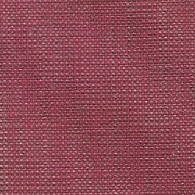 Oberon - Red Rose - Fabric woven from cotton, viscose, linen and polyester in dark pink, grey and white coloured threads