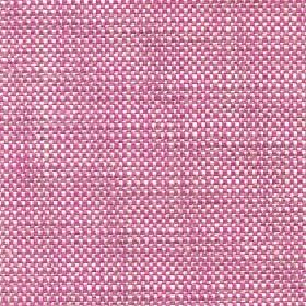 Oberon - Hot Pink - Hot pink and white coloured fabric woven from a combination of cotton, viscose, linen and polyester
