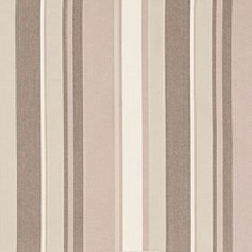 Asiss - Crystal - Light shades of brown, beige, pink and white in an elegant vertical stripe pattern on polyester, cotton and linen fabric
