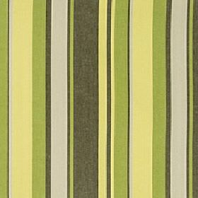 Asiss - Chartrese - Lime green, citrus yellow, light grey and dark grey coloured vertical stripes on polyester, cotton & linen blend fabric