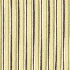 Arobas - Chartreuse - Dark grey, cream, light yellow and green stripes printed in a thin design on polyester, cotton and linen blend fabric