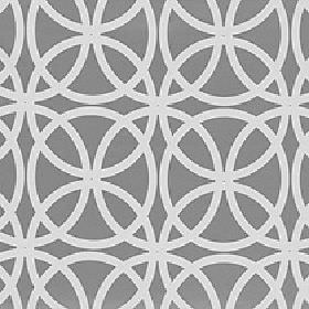 Piccola - Aluminium - White circles printed in an overlapping design on ash grey coloured polyester and viscose blend fabric