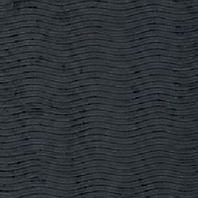 Linaro - Jet - Narrow wavy lines running evenly and horizontally over 100% polyester fabric in black and a very dark shade of grey