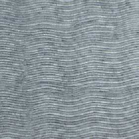 Linaro - Abyss - Two light shades of grey making up a horizontal pattern of narrow, evenly spaced wavy lines on 100% polyester fabric