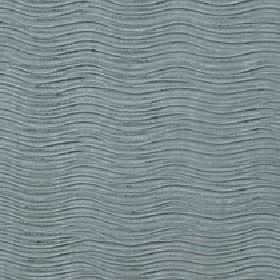 Linaro - Jadeite - Fabric made from 100% polyester with a narrow, evenly spaced wavy line design made in a stylish blue-grey colour