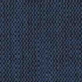 Denver - Denim - Fabric woven from a blend of viscose and linen, featuring a patchily coloured design in dark blue and indigo shades