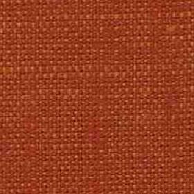 Denver - Tangerine - Dark paprika orange coloured viscose and linen woven into an unpatterned fabric