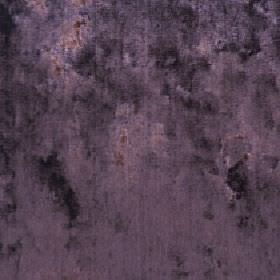 Diva - Aubergine - Dusky purple coloured fabric made from cotton, viscose and polyester with some darker and some pink patches
